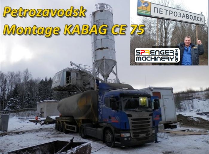 successful sale, assembly & commissioning of a KABAG CE 75 - to Russia / Petrozavodsk