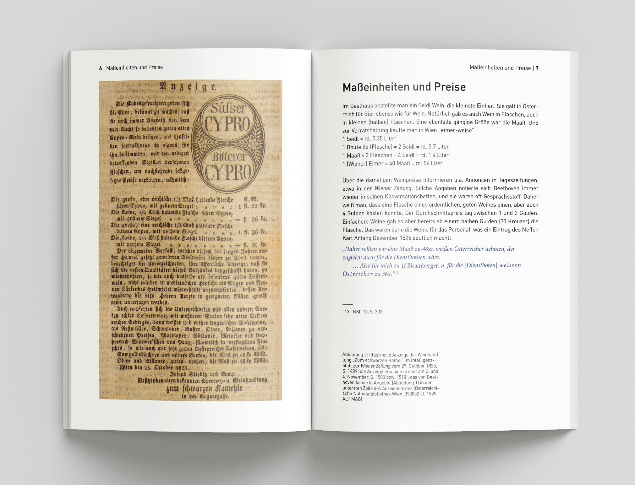 Prosit, Ludwig! Beethoven und der Wein, Doppelseite innen