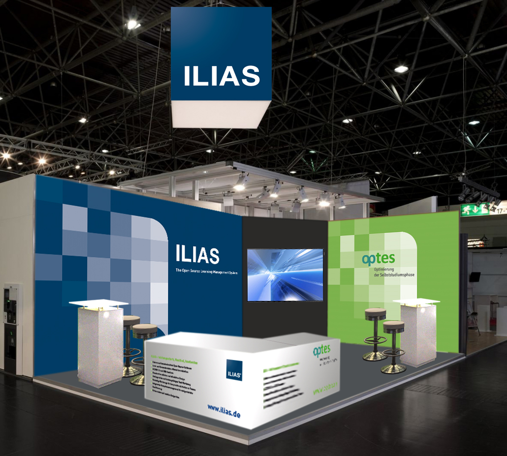 Messeauftritt mit ILIAS, Learntec 2020