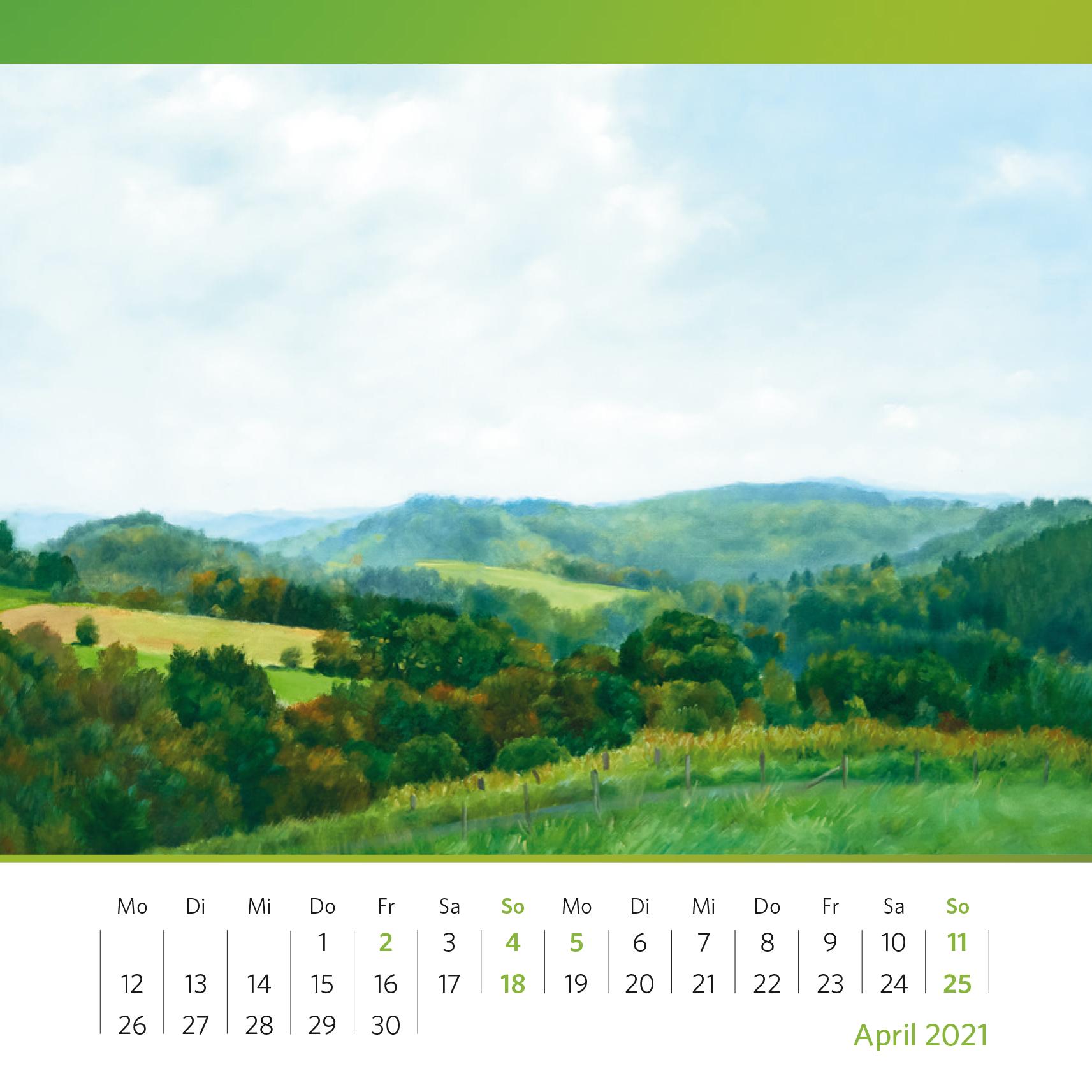 Margret Riese, o.T. – Wald- und Wiesenlandschaft. Sig. Riese (19)79. Öl auf Leinwand, 87 x 112 cm. Foto: Oliver Kolken