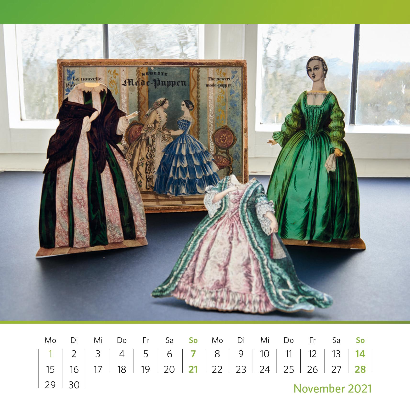 """Fräulein, nehmen Sie grün… """"Neueste Mode-Puppen"""", um 1880. Foto: Oliver Kolken"""