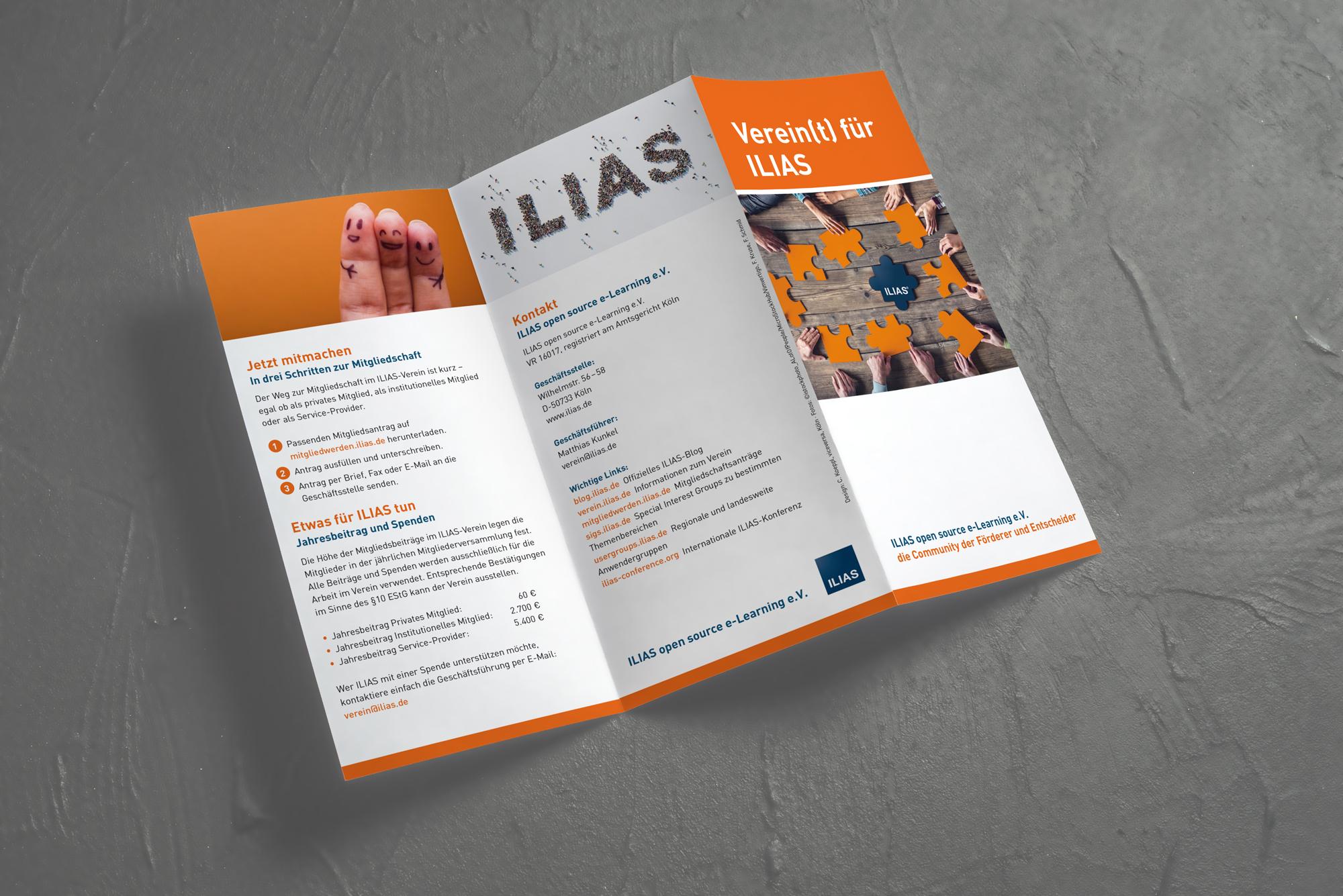 Faltblatt ILIAS-Verein Außenseite