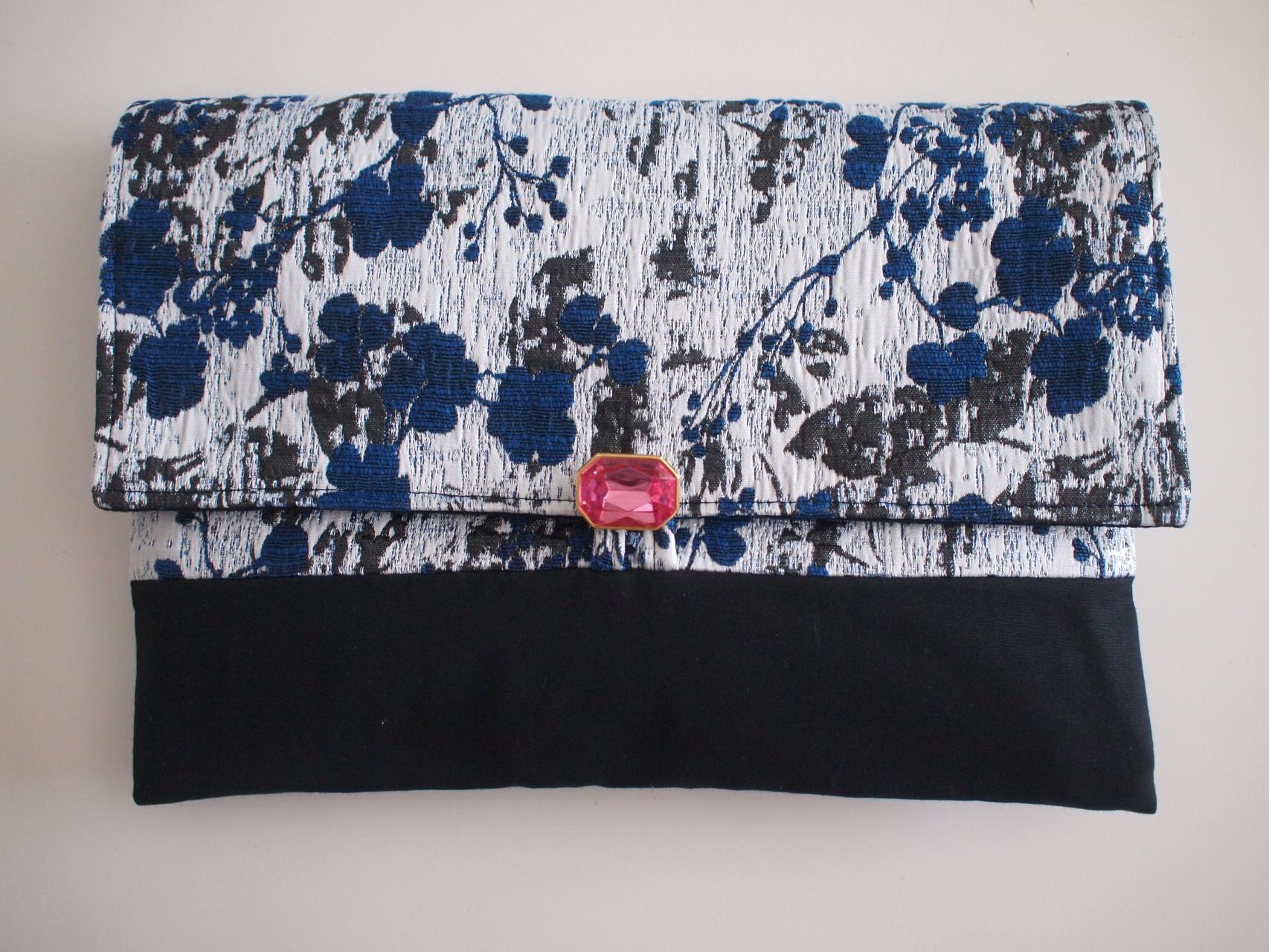 nd-980/02   JPジャガードクラッチバッグ pink ¥14,040 (13,000)