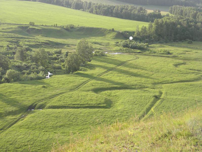 Вид с горы Сопки на место, где была мельница Берсенёвых