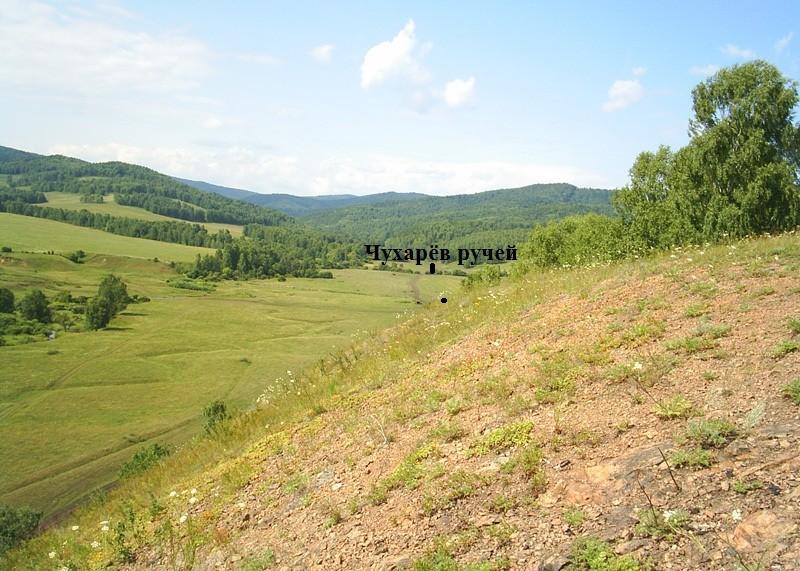Чухарёв ручей за селом Екатериновка