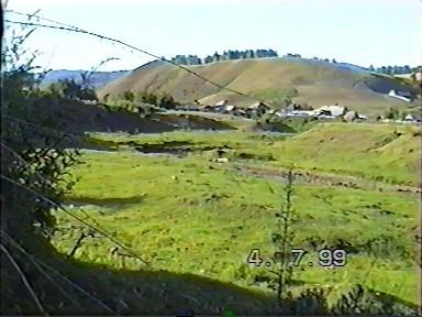 с. Екатериновка 1999 г. Вид от речки на Сопку
