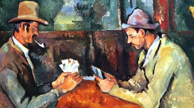 """Paul Cézanne, """"I giocatori di carte"""" (1890-1895)"""