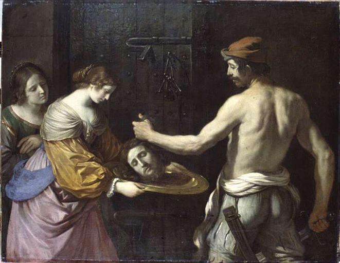 """Giovanni Francesco Barbieri (Il Guercino), """"Salomè riceve la testa del Battista"""" (1637)"""