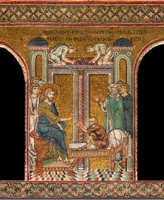 Mosaico presente all'interno del duomo di Monreale