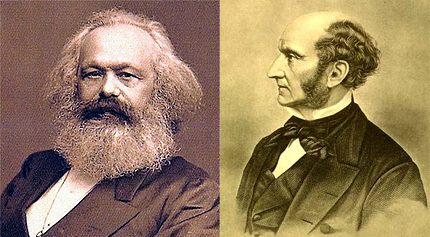 Karl Marx e John Stuart Mill