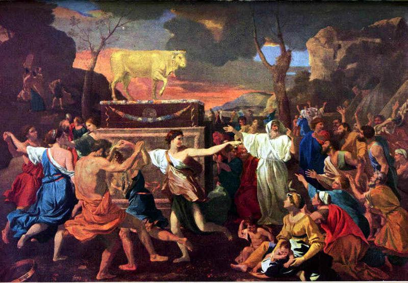 """""""Adorazione del Vitello d'oro"""" di Nicolas Poussin"""