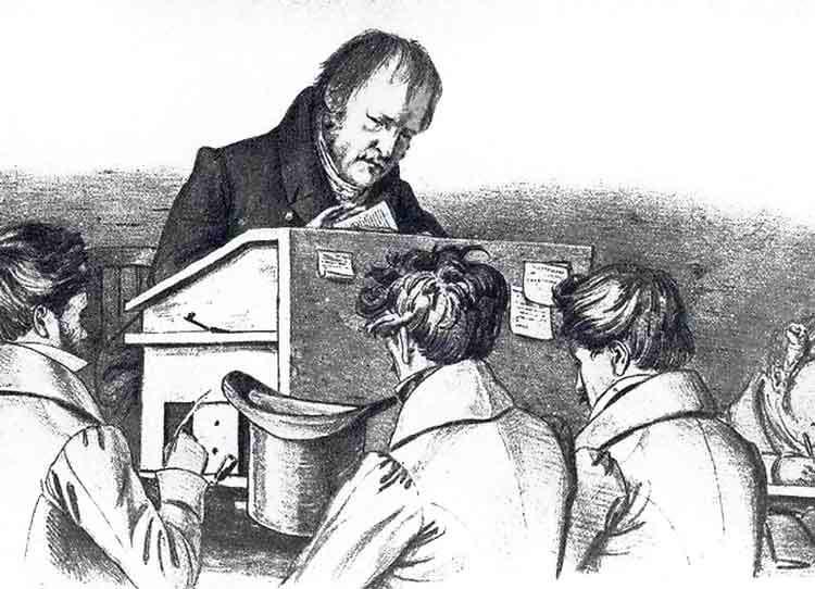 Hegel e i suoi studenti