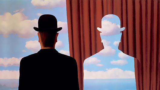 "René Magritte, ""Decalcomania"" (1966)"