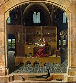 "Antonello da Messina, ""San Girolamo nello studio"", 1474-1475"