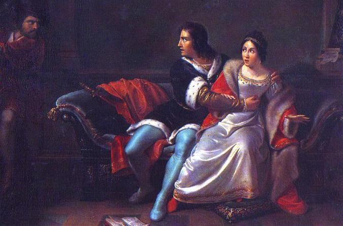"""Clemente Alberi, """"Paolo e Francesca da Rimini sorpresi da Gianciotto"""" (1828)"""