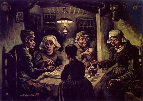 """V. Van Gogh, """"I mangiatori di patate"""""""