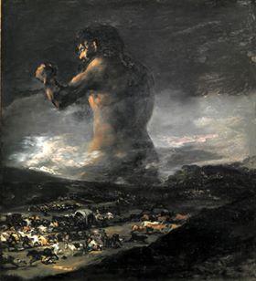 """F. Goya, """"Il Colosso"""" (1808)"""