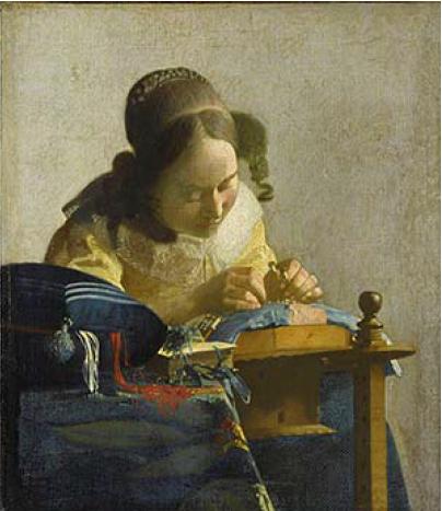 """Jan Vermeer, """"La merlettaia"""" (1669-1670)"""