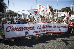 Lo slogan del movimento NO TAV