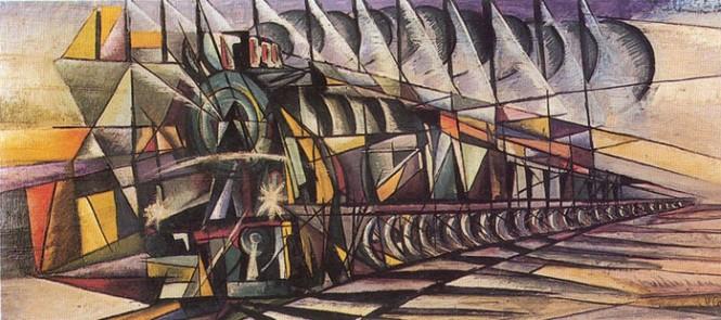 """Vittorio Corona, """"Treno + Stazione"""" (1921)"""