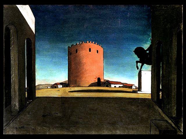 """Giorgio de Chirico, """"La torre rossa"""", 1913"""