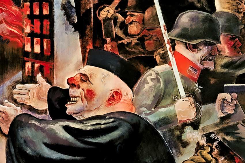 """F. Grosz, """"I pilastri della società"""" (1926)"""