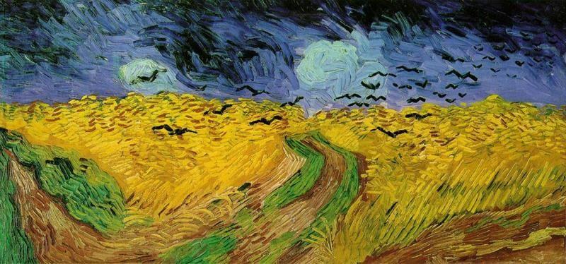 """Vincent van Gogh, """"Campo di grano con volo di corvi"""""""