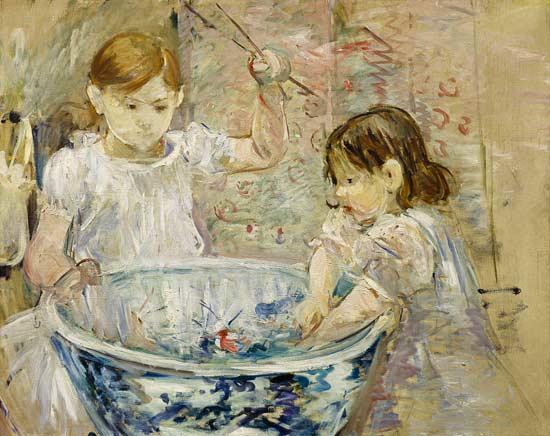 """Berthe Morisot, """"Bambini che giocano """" (1886)"""