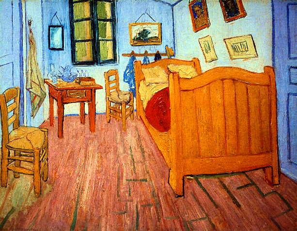 """V. van Gogh, """"La camera di Vincent ad Arles"""" (1888-89)"""
