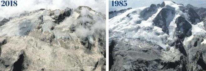 Il ritiro del ghiacciaio della Marmolada