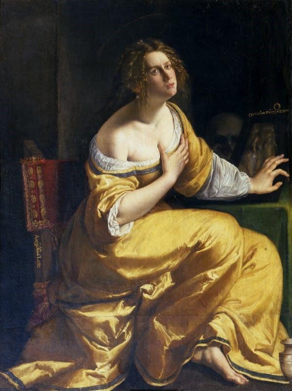 """Artemisia Gentileschi, """"Maddalena penitente"""" (1617-1620)"""