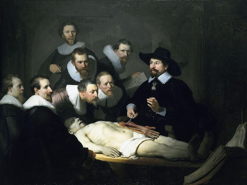 """Rembrandt, """"Lezione di anatomia"""""""