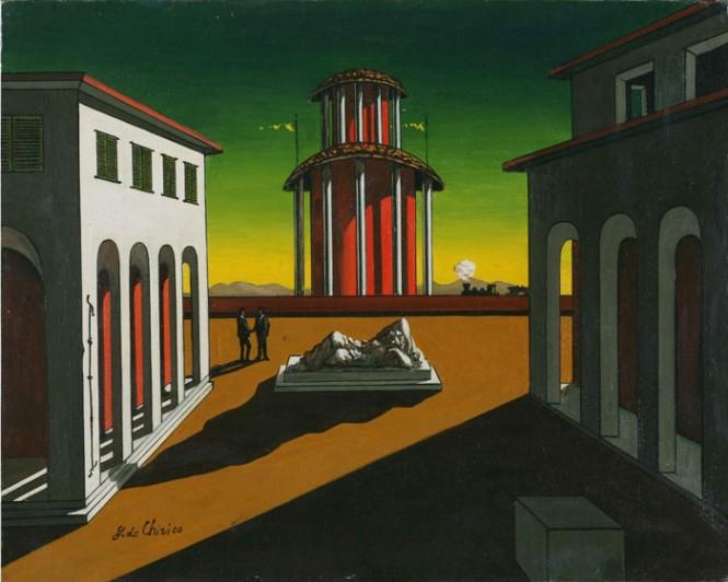 """Giorgio de Chirico, """"Piazza Italia"""" (1913)"""