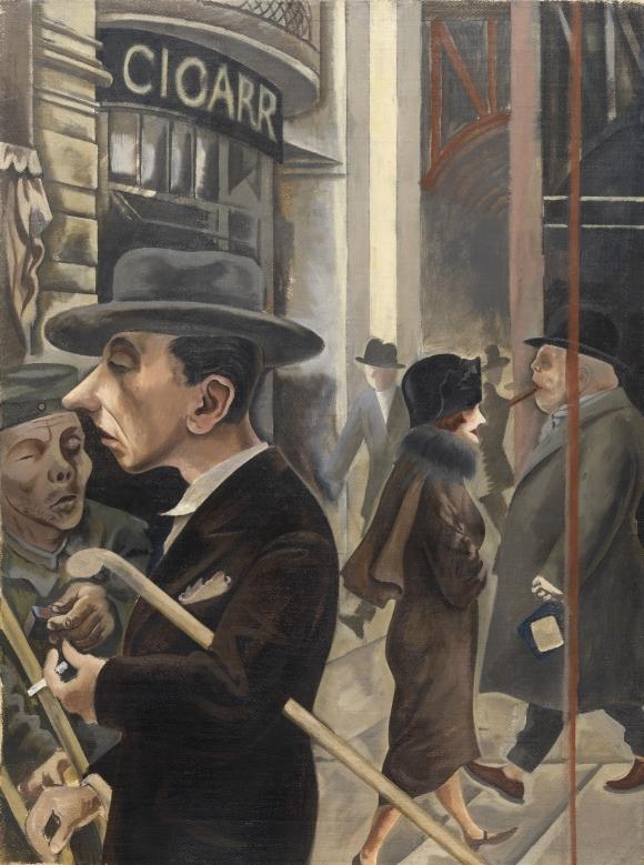 """George Grosz, """"Straßenszene""""  (1925 )"""