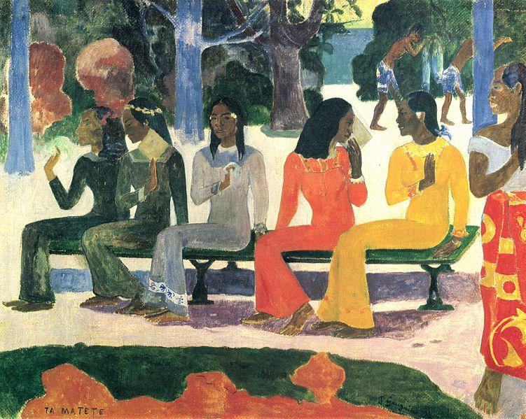"""Paul Gauguin, """"Ta matete"""" (Il mercato), 1892"""