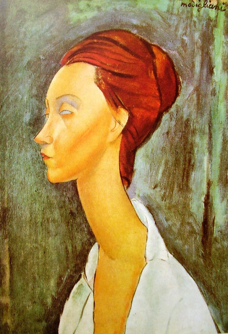 """A. Modigliani, """"Ritratto di Lunia Czechowska"""" (1919)"""
