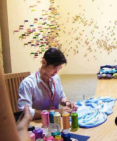 """Lee Mingwei, """"The mending project"""""""