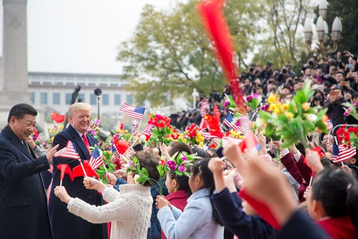 Viaggio di Trump a Pechino, 9 novembre 2017.