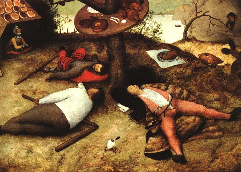 """Pieter Bruegel, """"Il paese della Cuccagna"""", 1587"""