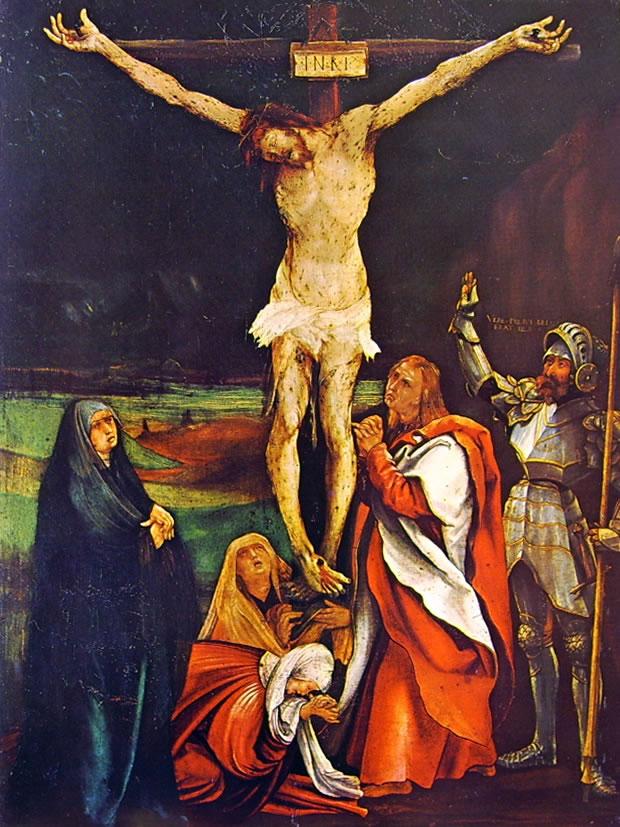 "Matthias Grünewald, ""Crocifissione""  (1508)"