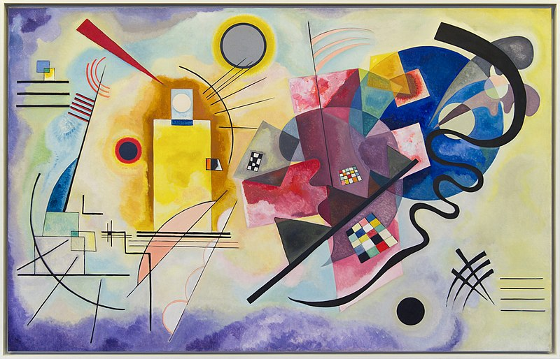 "V.V. Kandinskij, ""Giallo, rosso e blu"", 1925"