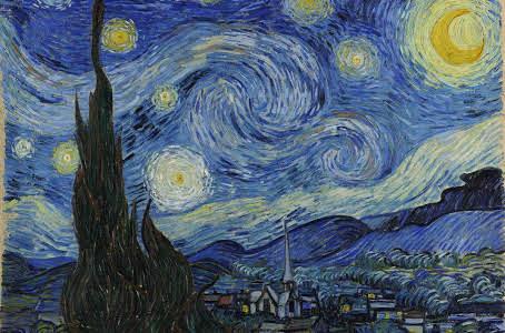 "V. Van Gogh, ""Notte stellata"""