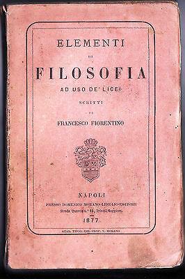 Elementi di filosofia ad uso dei licei (Prima edizione, 1877)