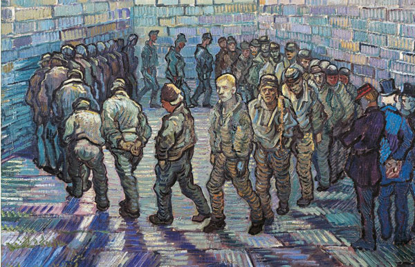 "Vincent Van Gogh, ""Prisoners Exercising"" (1890)"