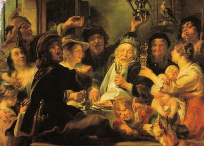 "J. Jordaens, ""Il re beve"" (1638)"