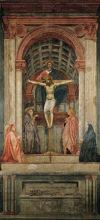 """Masaccio, """"Trinità"""" (1425-27)"""