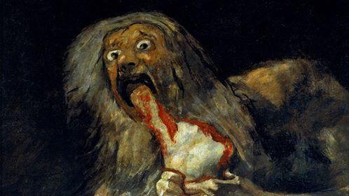 """F. Goya, """"Saturno divora i suoi figli"""" (1821-23)"""