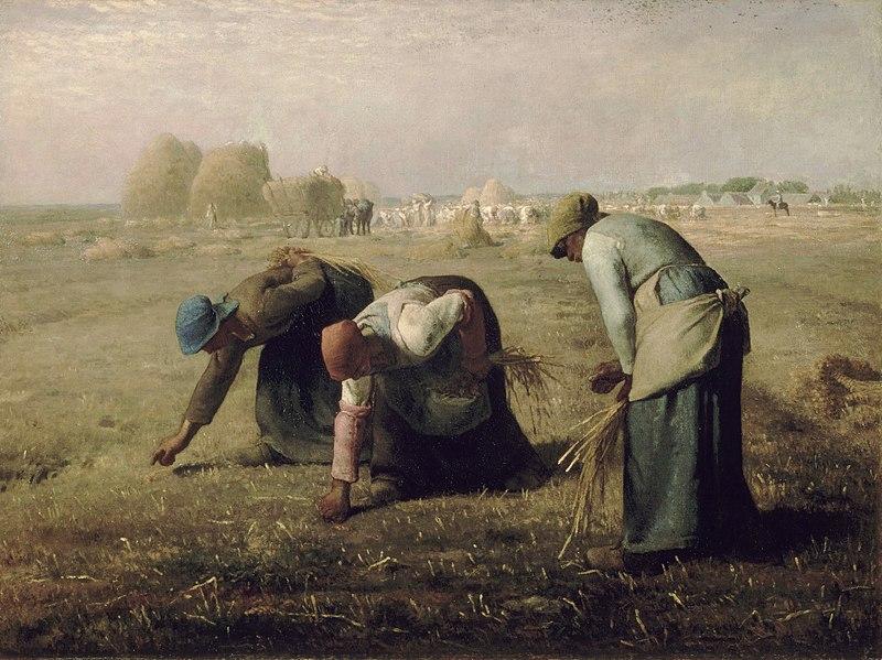 """J.-F. Millet, """"Le spigolatrici"""" (1857)"""