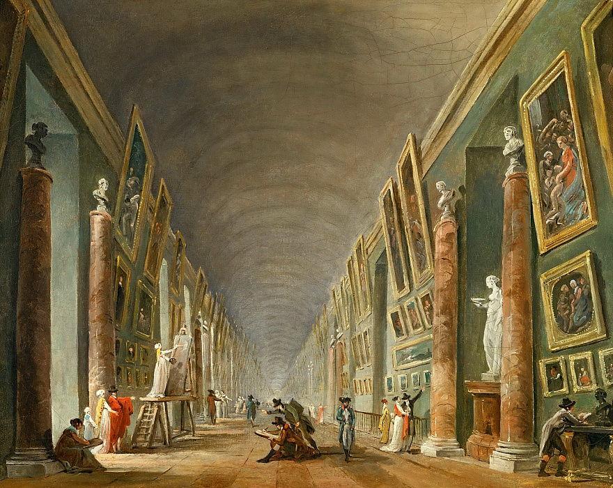 "H. Robert, ""La Grande Galleria del Louvre"" (1976)"