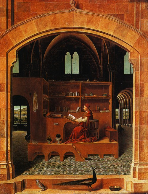 "Antonello da Messina, ""San Girolamo nello studio"" (1474)"